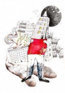 Illustration af Louise Thrane Jensen. Tekst og illustration blev bragt i Tumult #2.